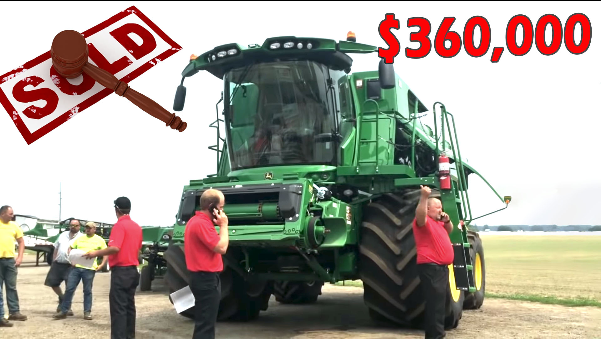 RECORD PRICE: 2017 John Deere S680 Combine with 4 Sep. Hours Sold $360K on Wayland, MI Auction