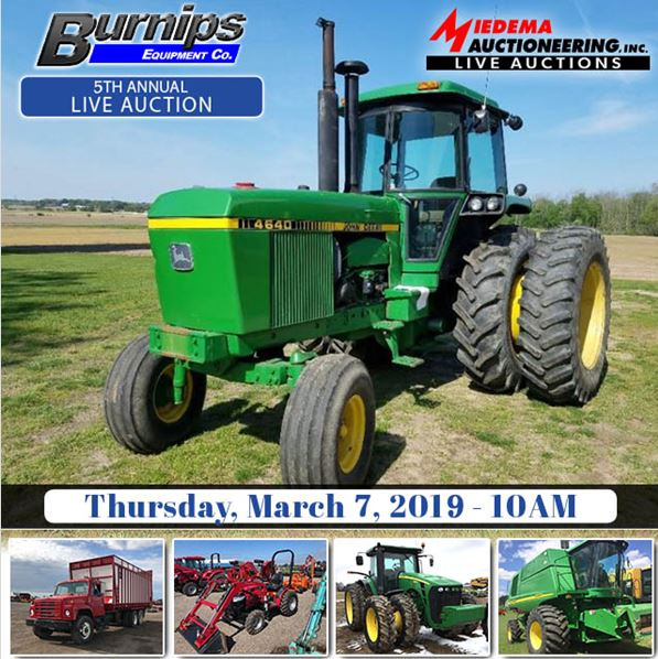 Burnips Equipment 5th Annual Live Auction