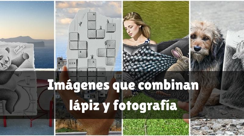 Imágenes que combinan lápiz y fotografía