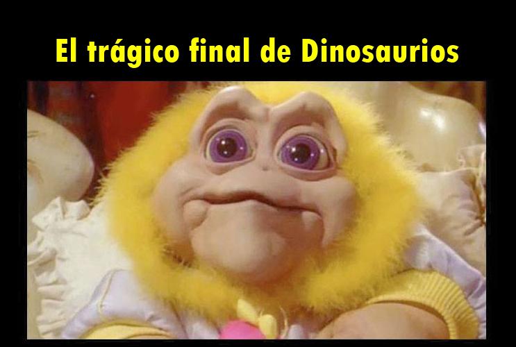 datos curiosos de caricaturas - el trágico final de dinosaurios