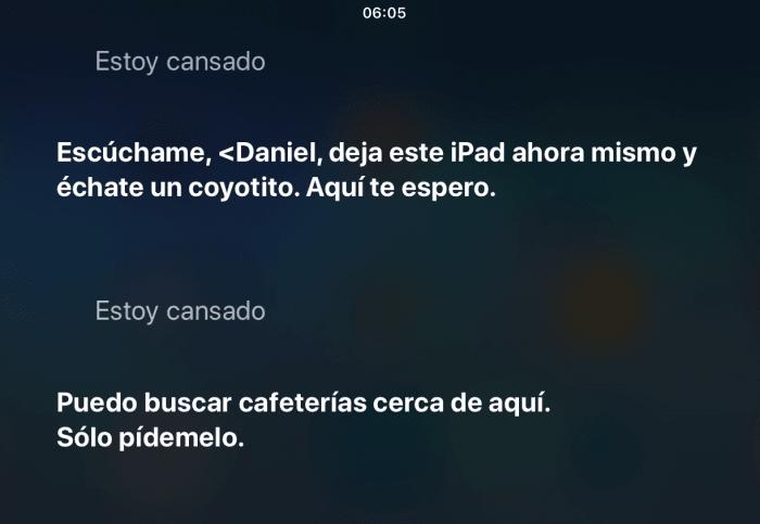 Sirii estoy cansado - preguntas graciosas para Siri