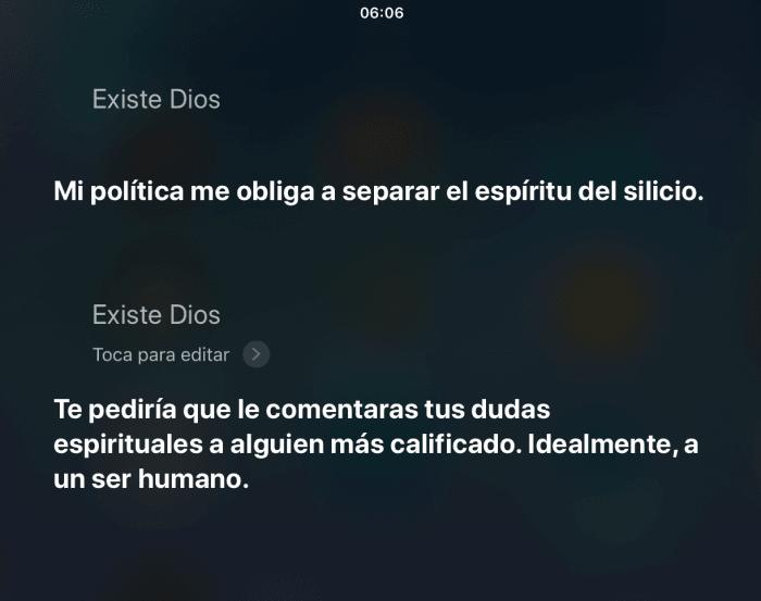 Existe Dios - preguntas graciosas para Siri