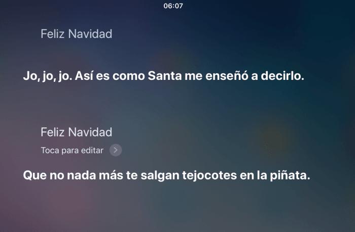 Feliz navidad Siri - preguntas divertidas para Siri