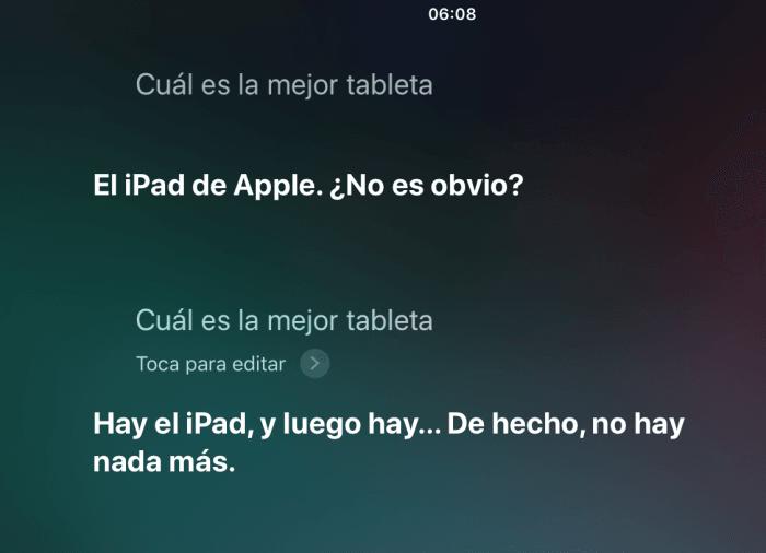 Cual es la mejor tablet - preguntas divertidas para Siri