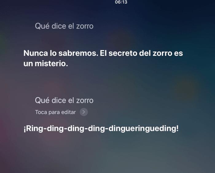 que dice el zorro - preguntas divertidas para Siri