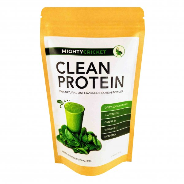 Mighty cricket protein powder organic sustainable all nautral dairy free soy free non gmo sugar free vegan plant