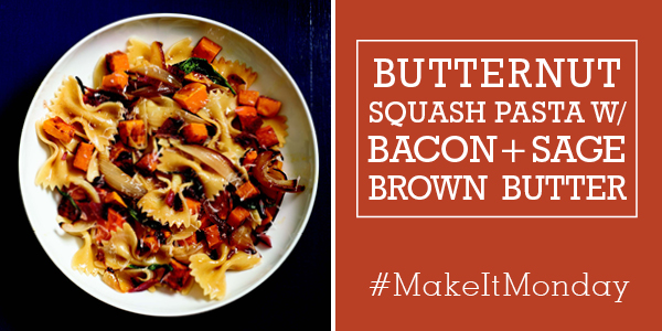 Butternut Squash Pasta with Bacon and Sage Brown Butter - MightyNest