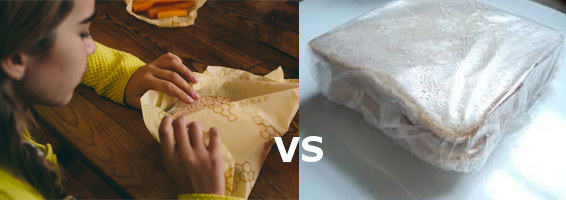 Bee's wrap vs plastic wrap - the choice is clear