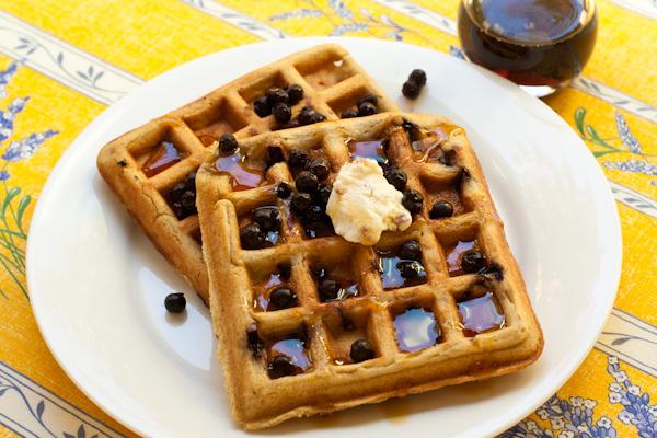 Blueberry Oat Waffles Vegan Glutenfree