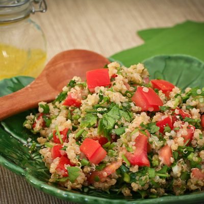 Tabouli-style salad with quinoa