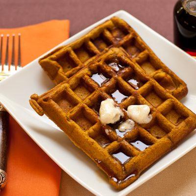 Pumpkin-spice waffles