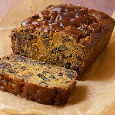 Persimmon-date-nut bread