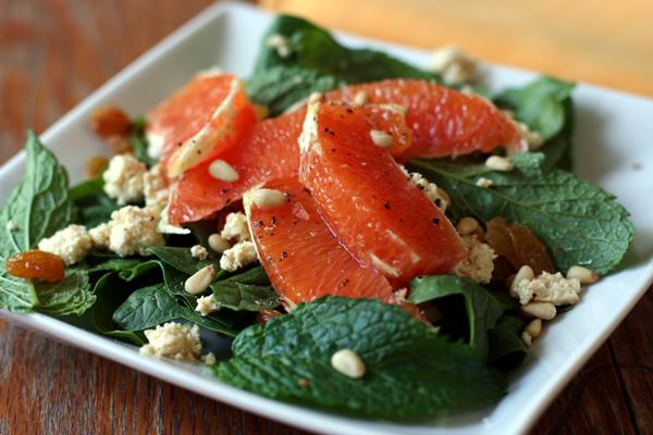Spinach Feta Orange Salad