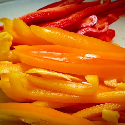 Sliced Red Yellow Peppers