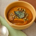 Butternut Squash Soup with Crispy Sage Leaves