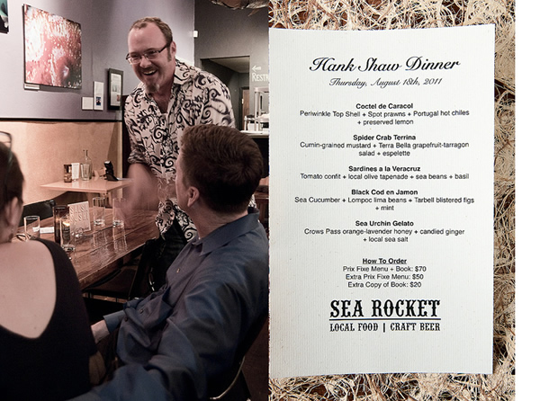 Sea Rocket Bistro author Hank Shaw