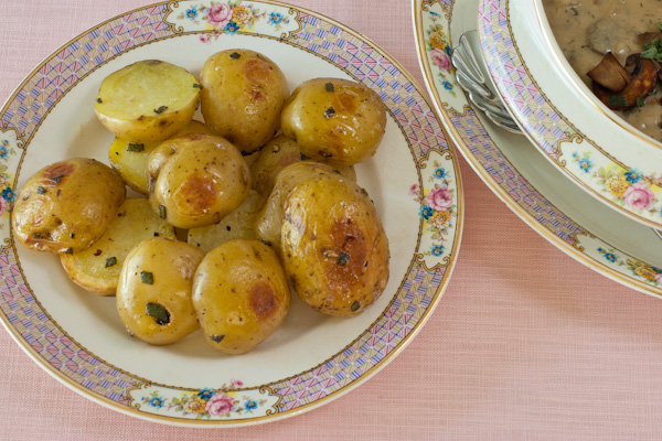 Sage Roasted  Baby Potatoes