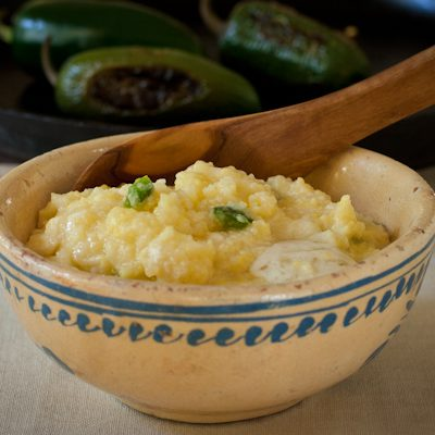 Roasted jalapeño cheese grits