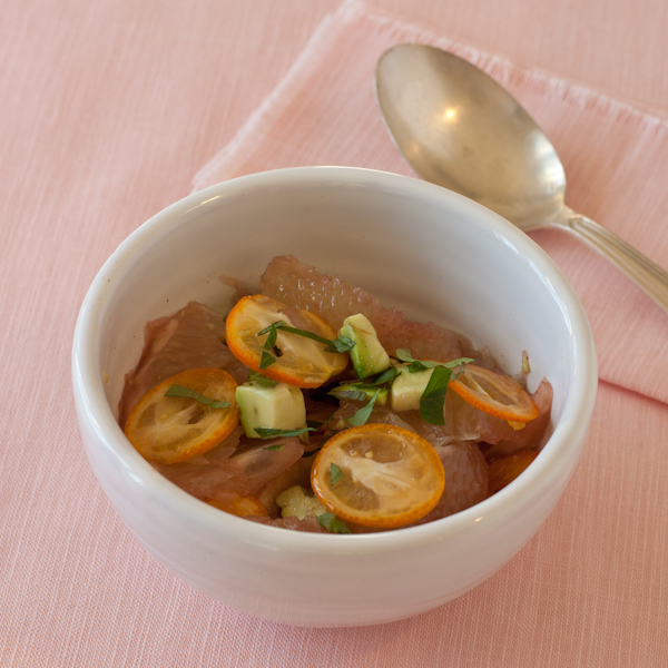 Grapefruit-avocado-kumquat salad