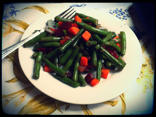 Venegret salad made with green beans