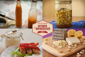 October Unprocessed Condiments from Recipe Renovator