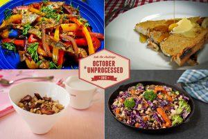 October Unprocessed breakfasts