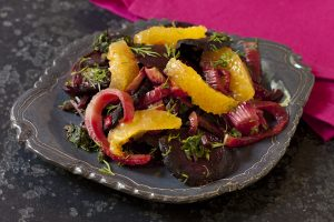 Roasted Beets Fennel Salad from Wild About Greens cookbook giveaway