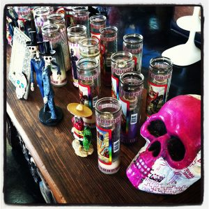 Dia de los Muertos display at Barrio Star restaurant, San Diego