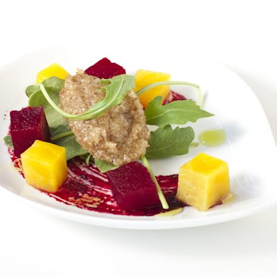 Beet Salad Beet Reduction Walnut Chutney