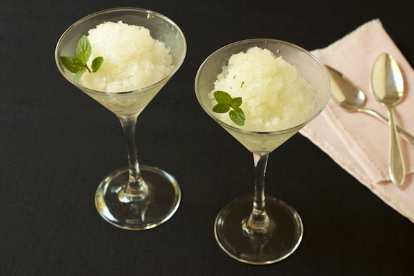 Asian pear-celery-mint-ginger granita