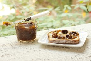 Meyer Lemon Chutney on toast