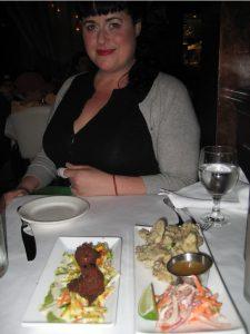 Sabrina, aka The Tomato Tart, at Millenium Restaurant in San Francisco