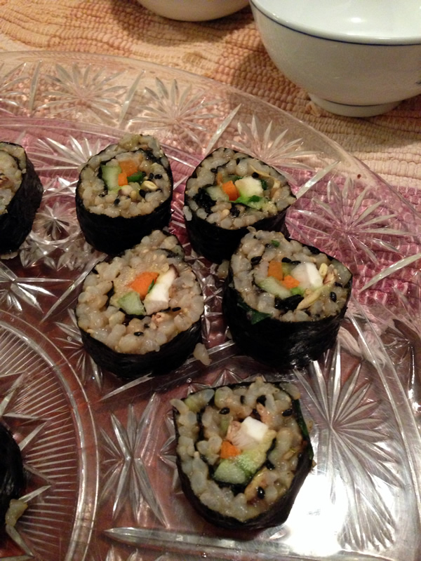 Brown Rice Sushi from Plant-Powered Diet