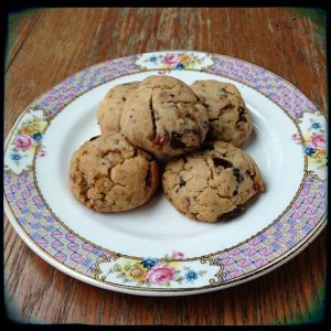 Date-Chocolate-Walnut cookies from Plant-Powered Diet