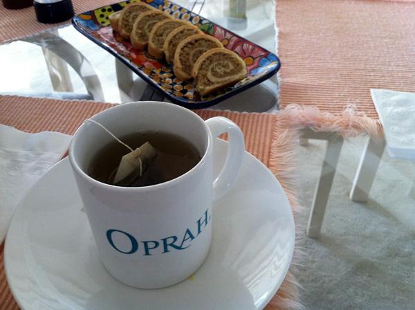 Tea and coffeecake