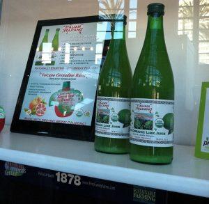 Italian Volcano juice display at Fresh Summit 2012