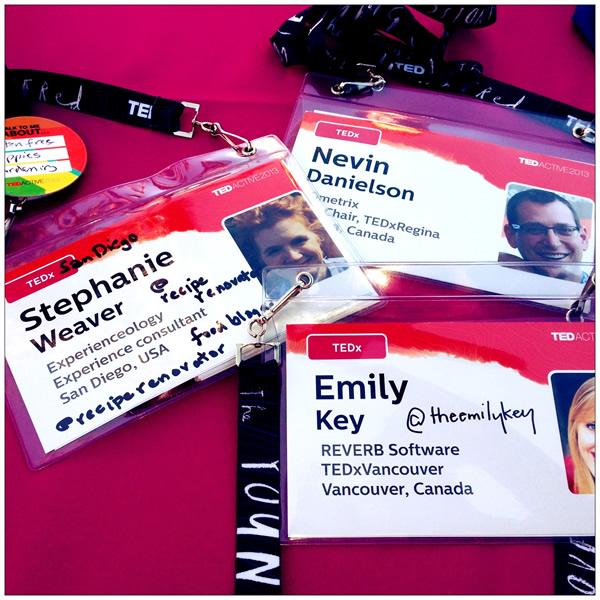 TEDActive Name Badges