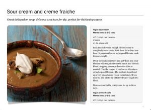 Screenshot of Sour Cream from Twelve Terrific Dairy Substitutes by Recipe Renovator