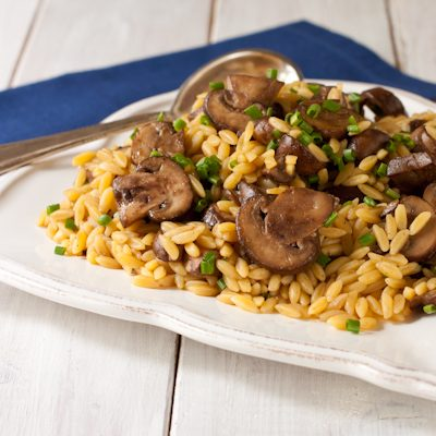 Orzo with mushrooms and chives