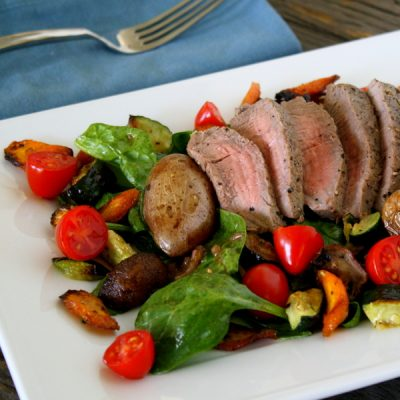 Steak and roasted potato salad