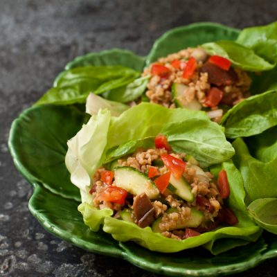 Thai lettuce cups with basil