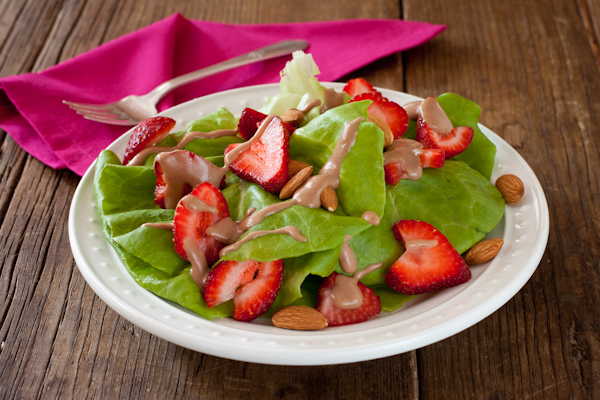 Strawberry Salad Balsamic Fig Dressing from Recipe Renovator