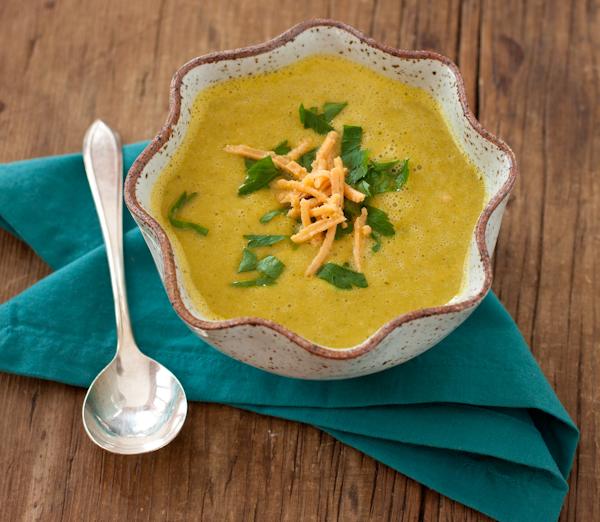 Broccoli Cheese Soup | A Cooking Light recipe renovation
