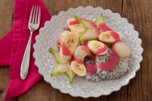 Exotic Fruit Salad with yogurt sauce (GF/V) | Recipe Renovator