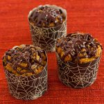 Pumpkin Spiderweb Chocolate Muffins | Gluten-Free & Vegan from Recipe Renovator