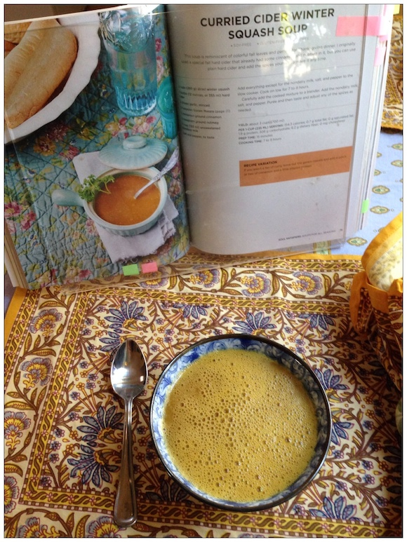 Curried Cider Winter Squash Soup from Vegan Slow Cooking for Two review by Recipe Renovator