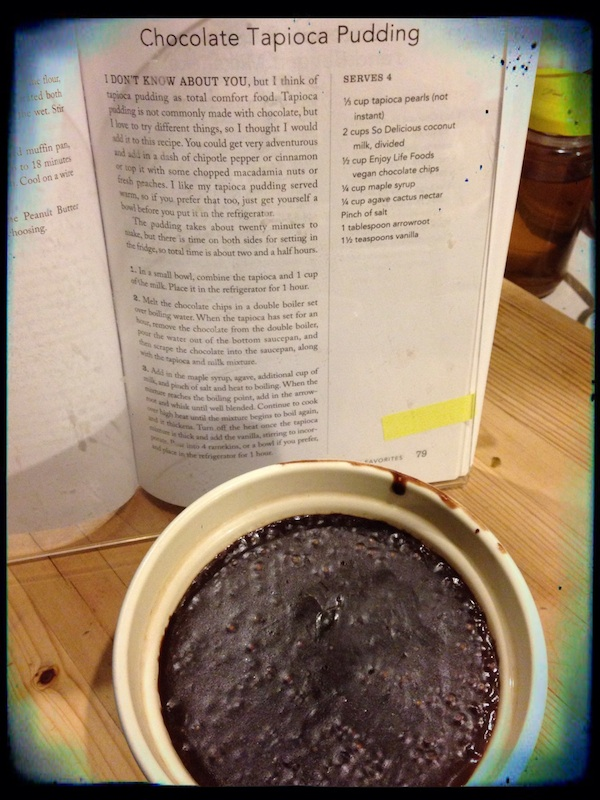 Gluten-Free Vegan Comfort Food chocolate tapioca pudding on Recipe Renovator