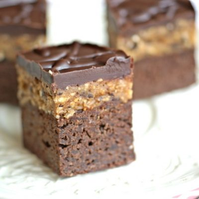 """Cookie dough""-topped brownies from @RickiHeller"