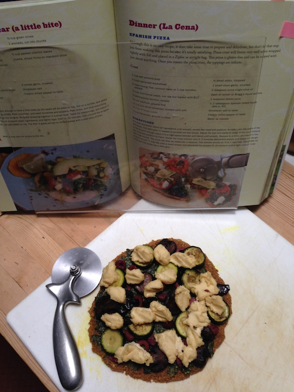 Raw pizza from Live Raw Around the World | Review on Recipe Renovator