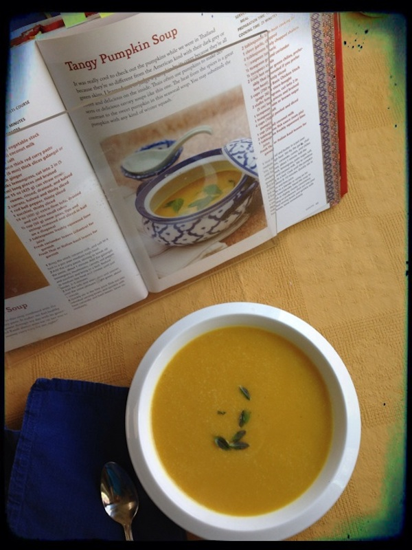 Tangy pumpkin soup from Everyday Thai Cooking | Cookbook Review by Recipe Renovator